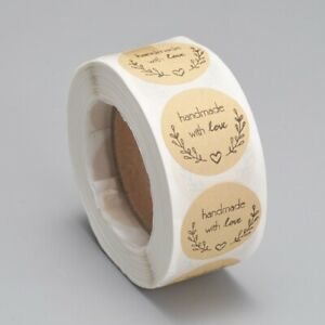 Handmade with Love - Self Adhesive Labels on a Roll 25mm-500 labels (A -1 roll)