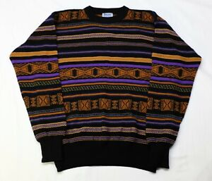 Beautiful Vintage MEISTER Wool Acrylic Knit Sweater Cosby XL