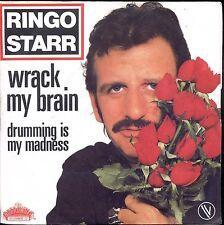 7inch RINGO STARR wrack my brain FRANCE 1981 EX +PS