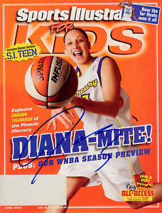 Diana Taurasi Mercury SIGNED Sports Illustrated COA!