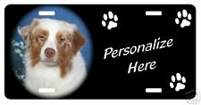 Australian Shepherd red  Personalized Pet License Plate
