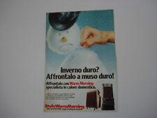 advertising Pubblicità 1980 STUFE WARM MORNING