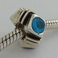 Authentisch Chamilia 925 Silber in Ruhestand Diamnd Form Aquamarin Cz Perle