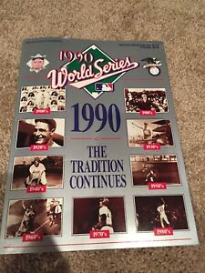 1990 World Series Program Cincinnati Reds V Oakland As Excellent Condition