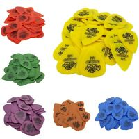 50 Pcs/Set Guitar Picks - Dunlop Tortex 0.50 / 0.60 / 0.73 / 0.88 / 1.00 / 1.14