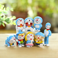 Doraemon super man anime figure figures Set of 8pcs doll Toy anime collect