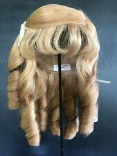"""PERRUQUE poupée ancienne BLONDE Cheveux naturels T28.5cm - Doll wig size 11.2"""""""