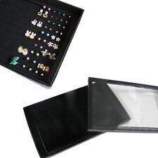 Fashion 100 Slot Earring Rings Box Storage Organizer Jewelery Display Cases