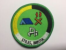 Stiles Campsite Woven Camp Blanket Badge 7th Bristol Scouts Cabot District