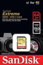 SanDisk® Extreme® 64GB SDXC™ UHS-I Card U3 V30 C10 150MB/s Digital Memory