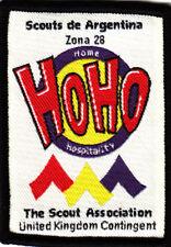 Boy Scout badge 19 WORLD JAMBOREE CHILE 1999 UK Cont HoHo in Argentina