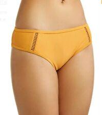 Time and Tru Women's Women's Ladder Trim Bikini Swimsuit Bottom Gold Topaz XL Ne