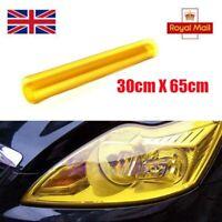 30 x 65cm Yellow Tinting Film Fog Tail Lights Headlights Tint Car Van Wrap