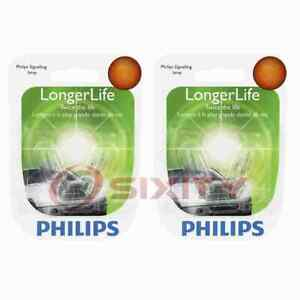 2 pc Philips Front Side Marker Light Bulbs for Ford E-150 E-150 Econoline wy
