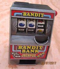 One Arm Bandit Jackpot Coin Bank Mini PLASTIC Slot Machine