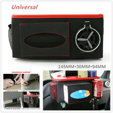 Universal Multi-function Car Drink Tray Holder Tissue Box Hanging Bag Storage PU