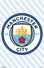 MANCHESTER CITY - CLUB CREST POSTER - 22x34 SOCCER FOOTBALL LOGO 15638