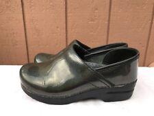 Dansko Women's Professional Clogs Metallic Green Made in Italy EUR 38 US 7.5 - 8