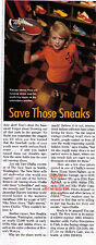"""1996 """"Save Those Sneaks"""" Collectible Running Shoes Vintage Photo Article"""