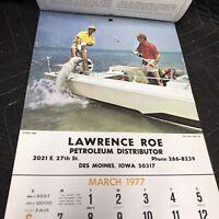 1977 Calendar Petroleum Distributor - Lawrence Roe -Full Year - Des Moines, Iowa
