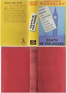Anthony Berkeley  DEATH IN THE HOUSE  2nd w/fdj 1940 Murder mystery