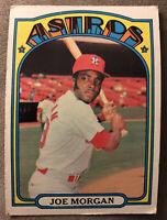 1972 Topps Joe Morgan Baseball Card #132 Cincinnati Reds HOF Low Grade