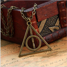 COLLANA TRIANGOLO HARRY POTTER DEATHLY HALLOWS  E I DONI DELLA MORTE bronzo