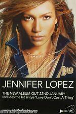 """Jennifer Lopez """"J. Lo - The New Album Out 22nd January"""" U.K. Promo Poster"""