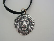 Freya ~ Silver Oxidized Lion Talisman Protection Witches of East End Necklace