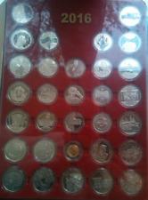Full Set Ukraine 2016 Non-precious Coins 2+5 Hryvnia 31 Coins, UNC + Free Case