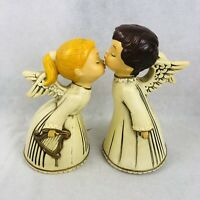 "Vintage Kissing Angel Boy & Girl Figurine Set Made in Japan 8"" Angels  Vtg"