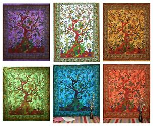 TREE OF LIFE Wall Hanging Tapestry Bohemian Boho Hippie Home Decor 90x85 inches
