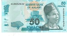 MALAWI 2012 50 KWACHA CURRENCY UNC