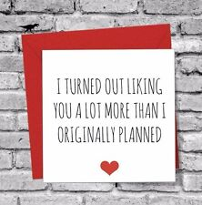 Birthday Xmas Card Anniversary Wife BOYFRIEND Girlfriend Husband Valentines Day