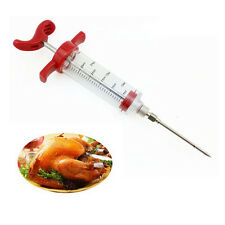 Marinade Flavour Injector Safety Seasoning Sauce Syringe for Turkey BBQ Meat New