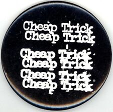Cheap Trick Original 1977 Misprint Logo Vintage Button Pin / Rick Nielsen No. 2
