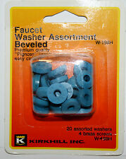 Kirkhill Inc. Faucet Washer 20pc Assortment Beveled Pignose &screws W-198H Nos