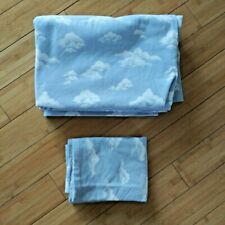 Flannel Fitted And Flat Sheet Set With Snowflake Full / Double