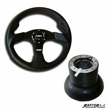 Tyrex Raptor 4x4 Sport Steering Wheel 14'' Faux Leather With Discovery 1 Boss