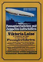 Zeppelin Passagierfahrten Blechschild Schild gewölbt Tin Sign 20 x 30 cm FA1648