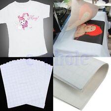 2X A4 Heat Transfer T-Shirt Laser Inkjet Iron-On Paper For Dark Light Fabric TW
