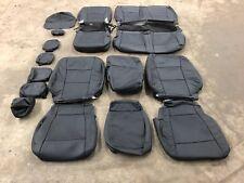 2019 Ford F250 F-350 XLT Crew Cab Katzkin Leather Seat Cover kit Black