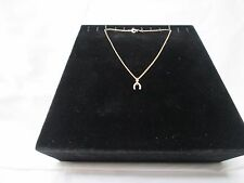 New Park Lane Gold Chain Necklace with Horseshoe Shaped Pendant in Gift Box