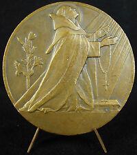Médaille Saint Dominique 1935 branche de Lis symbole de la pureté Mouroux medal