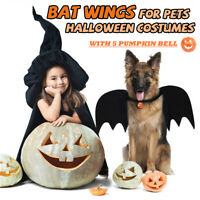 Pet Dog  Black Bat Wings Cosplay Wings Costume Party Halloween Decoration  z