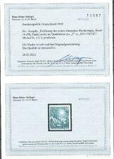 11060) Perfekt: Bund MiNr. 111 I unsigniert einwandfrei postfrisch ** + gepr. FB