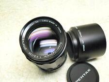 Asahi Super-Takumar Screw Mount 135mm f/3.5 Lens  w/ Case, HOOD, Caps. Pentax