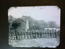 civil war Soldiers on field1865 tintype Quarter Plate C795RP Art Series