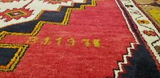 """Exquisite Dated 1971 Vibrant Natural Color Wool Pile Yahyali Rug 4'2""""×8'"""