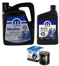 Set Mopar Engine Oil SAE 5w20 6 L 68218891aa+ Mopar Oil Filter PH16 05010884aa